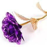 Rosa bañada en oro de 24K de alta pureza, una obra de arte, el mejor regalo para el día de San Valentín, Día de la Madre, Navidad, cumpleaños, bodas, hecha a mano, duradera
