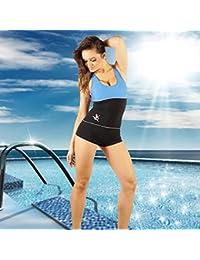 STANTEKS Damen Badeanzug Schwarz/Blau Größe:36