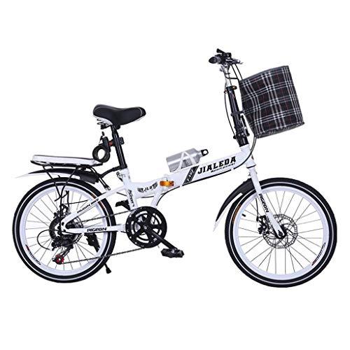 Yunyisujiao Bicicletta Pieghevole da 20 Pollici Pieghevole a Disco da Bicicletta, Bici da Uomo e da Donna, Mini Bicicletta Ultraleggera per Studenti (Color : Red, Size : 150 * 30 * 100CM)