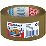 tesa 57177 Ultra Strong PVC Packaging Tape, Tower Of 6 Rolls, Brown, 50 mm x 66 m