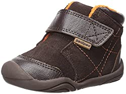pediped Troy Bootie (Infant/Toddler), Chocolate, 19 EU/4-4.5 E US Toddler