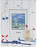 Freestanding Wooden Nautical Beach Seaside Boat Photo Frame 4 X 6