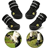Protective Dog Boots, Royalcare Set of 4 Waterproof Dog Shoes for Medium