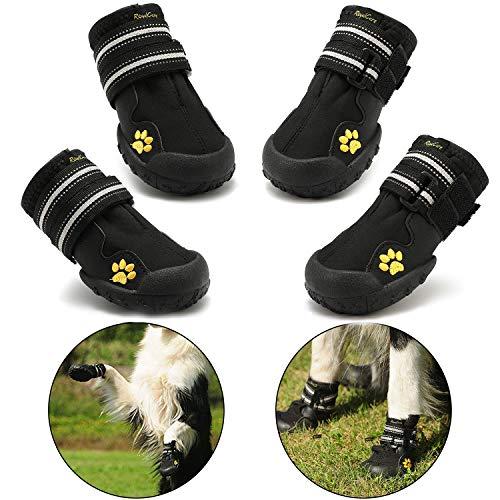 RoyalCare Zapatos para Perros, Botas De Nieve Resistentes Al Agua Y Calientes. Protector De Patas con Suelas Rugosas Antideslizantes Resistentes Al Uso. Adecuadas para Perros Medianos A Grandes(6#)