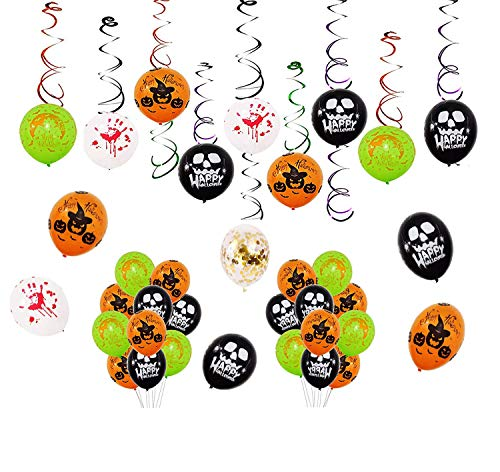 iZoeL Halloween Deko Halloween Party Zubehör Tassel Hänger 25 Ballons