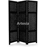 Artesia Handcrafted 3 Panel Wooden Room Partition/Wooden Room Divider/Wooden Screen/Wooden Room Seperator