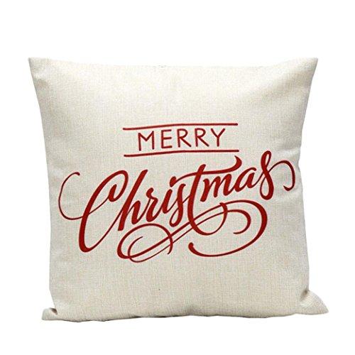 samLIKE Vintage Weihnachten Brief Schlafsofa Dekoration Festival Kissenbezug Kissenbezug (Weiß)