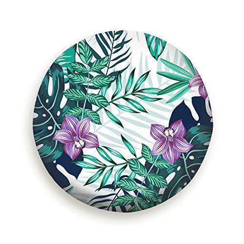 Huabuqi Dichter Blumenbezug aus tropischen Blättern mit elastischem Saum-haltbarem Design hält Schmutz, Regen und Sonne von Ihrem Ersatzreifen fern -