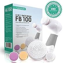 VOYOR 5-In-1 Limpiador Facial Electrico Cepillo Facial Limpieza Giratorio con 5 Cabezales Diferentes Para Piel con Combinación Grasa Piel Sensible Exfoliación Cuidado de La Piel FB100