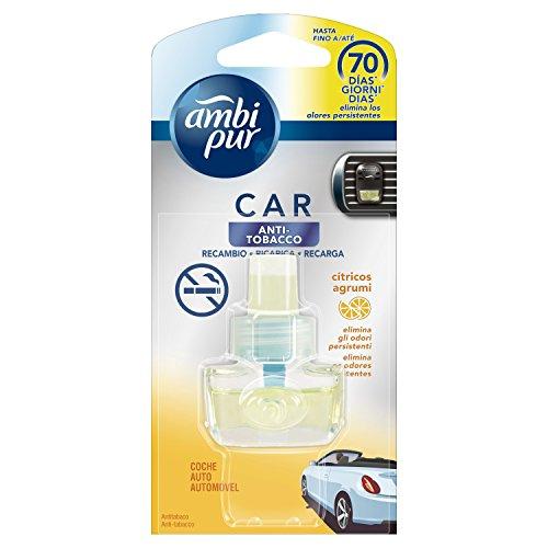 Ambi Pur Car Ricarica Deodorante per Auto, Anti Tabacco, 7 m