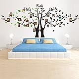 S.Twl.E Foto Creative rimovibile cornice fotografica autoadesiva adesivo parete camera per bambini albero foto sfondo, B + G