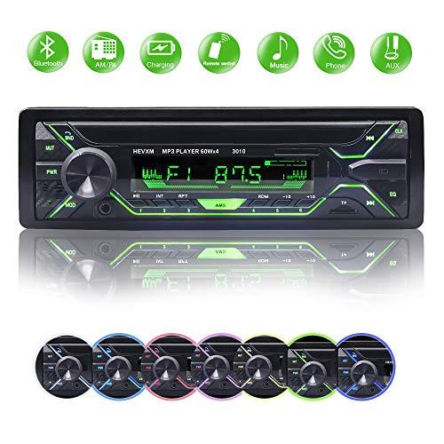 Autoradio Bluetooth Coche, BETECK Autoradio Bluetooth Manos Libres, USB/SD/AUX/FM/WMA/Reproductor de MP3/Pantalla LCD de Audio con Control Remoto Inalámbrico