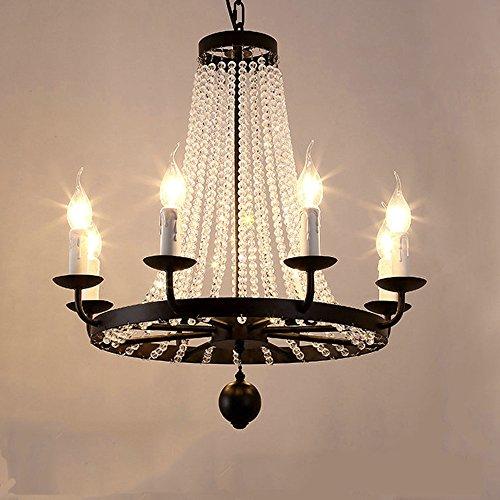 DPG Moderne Luxus Kristall Led Kronleuchter Beleuchtung Leuchten für Wohnzimmer E14 Led Home Lighting (Birne nicht inbegriffen) (Leuchten Kronleuchter)