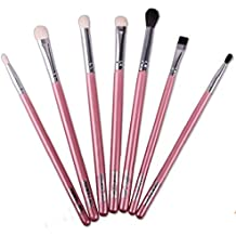 Tongshi Pinceles de maquillaje Mezcla de sombra de ojos en ángulo Delineador de ojos ahumado Bloom Ojo cepillo del sistema (rosa fuerte.)