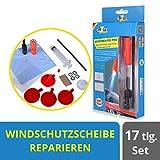 Steinschlag Reparaturset Scheibenreparatur Windschutzscheibe mit UV-Lampe 20tlg.