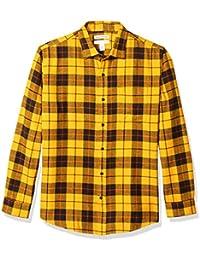 aportugaldirectory.com Essentials Camicia Regular in Flanella a Manica Lunga Uomo