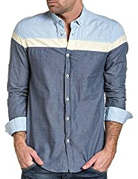 BLZ jeans - Chemise pastel homme tricolore été