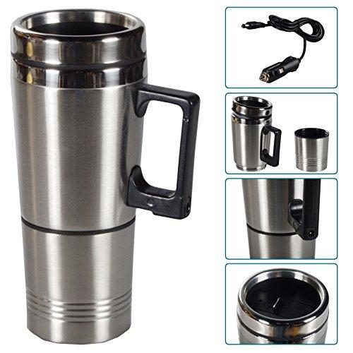 Beheizbarer Trinkbecher Kaffeebecher Auto Becher Edelstahl Thermobecher 12V