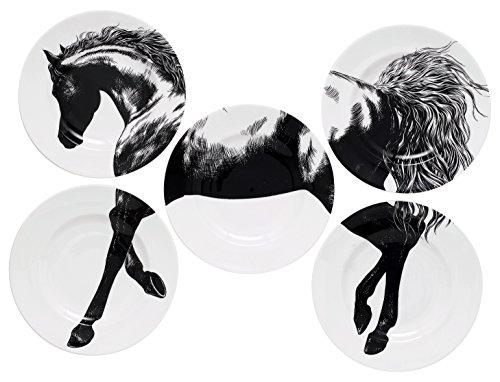 royal-crown-derby-equus-rozir-nero-set-di-5-piatti-di-carta-23-cm-multicolore-e-colore-confezione-da