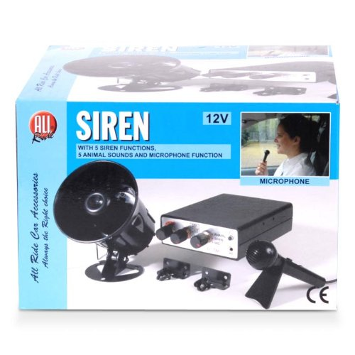 All Ride Sirene mit 10 Tönen und Mikrofon 12V - Ton-sirene