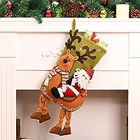 46x 16cm Large calze di Natale–Babbo Natale Pupazzo Di Neve Riding Deer Albero di Natale decorazione da appendere Candy Sacchetti regalo Santa Claus