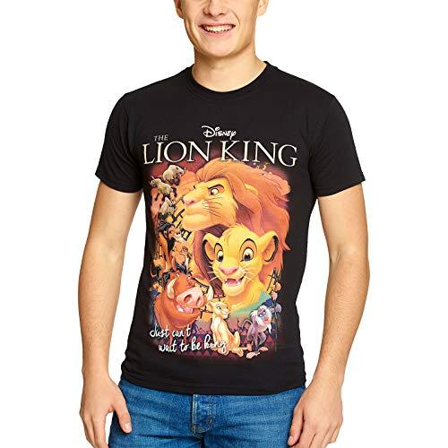 König der Löwen Disney Herren T-Shirt Film Poster Elbenwald Baumwolle schwarz - XL