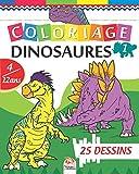 Coloriage Dinosaures 1: Livre de Coloriage Pour les Enfants de 4 à 12 Ans - 25 Dessins - Volume 1...
