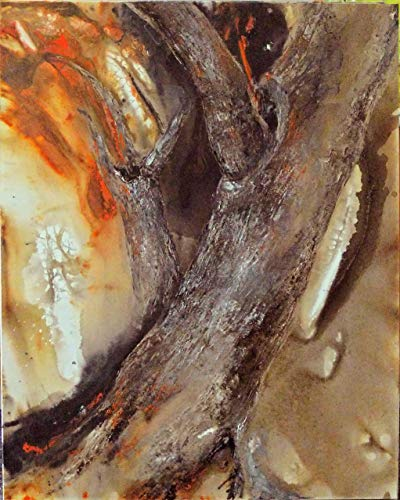 Fire needs Wood to burn - Painting by Lea Schock - Feng Shui Fine Art Canvas Print - High Quality -