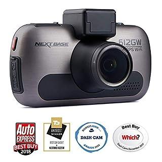 Nextbase 612GW - 4K UHD Dashcam Überwachungskamera & Auto-Kamera mit GPS, DVR, WDR, WiFi, HDR, Polfilter & erweiterter Nachtsicht - KFZ Frontkamera zur Überwachung (Schwarz)