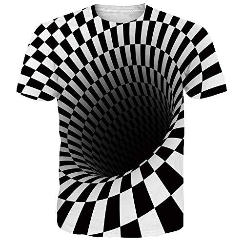 Funnycokid Teenager Mädchen T-Shirts 3D Gedruckt Schädel Sommer Lustige Kleidung Unisex TeeTops
