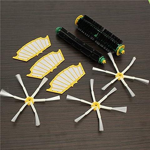 Yongse 8pcs Filtres avec Brush Kit Brush 6-armé pour iRobot Roomba 500 Series Vacuum Parts