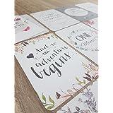 Floral bebé hito/MES tarjetas | bebé ducha regalo | bebé tarjetas