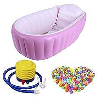 Materiale: PVC di alta qualità Età (mese): adatto per 0-3anni i bambini-sotto la supervisione di un adulto. Dimensioni:Vasca da bagno: 98x 64x 28cm/90,4x 64x 28cmOcean palla: 7cm/7,1cm Colore:Vasca da bagno: rosa; bluOcean palla...
