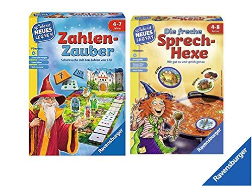 Ravensburger Kinderspiele 24964 0 Zahlen-Zauber 24944 Die Freche Sprech-Hexe Lernspiel