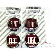 Original Fiat Punto/EVO Llanta Tapa Buje tapas – Lote de 4 tapacubos – 735448759