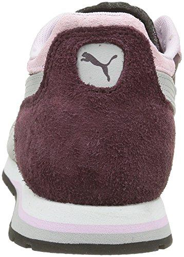 Puma Damen Yarra Elem Low-Top Rot - Rouge (Winetasting/Lilac Snow/Glacier Gray)