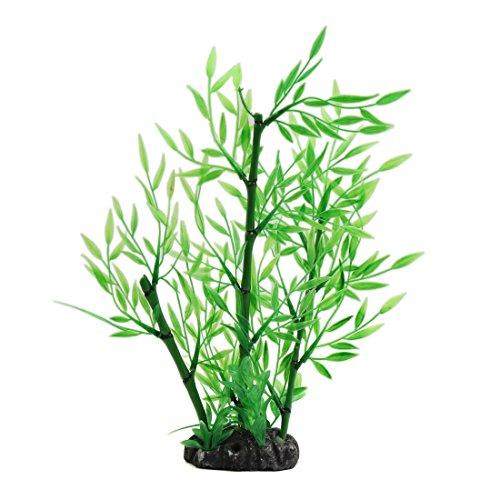 MiKi&Co Grün Kunststoff Bambus Gras Pflanze Dekoration Landschaft für Aquarium Fisch Tank -