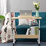 PATIOSNAP Computer Desk Home Height Adjustable Office Desks, Standing Adjustable Laptop Desk for Small Spaces,