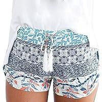 Resplend Frauen Hotpants Sommer-Beiläufige Kurzschlüsse Drucken Sport Yoga Lässige Shorts Kurze Hose Hoher Taille Boardshorts Freizeit Beach Shorts Strandshorts