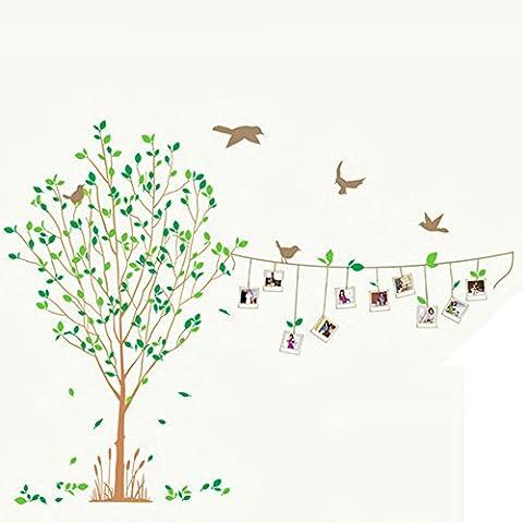 Yeelan Family Tree parete della decorazione Adesivi con Cornici, 115x87CM (45.3x 35.3 pollici) - Family Tree Parete