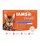 Iams Delights Land and Sea Collection Nassfutter 24 Frischebeutel