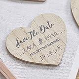 Ginger Ray Save the Date Holz Magnet Einladungen?10PACK?Schöne Botanics