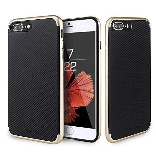 Custodia Iphone 7Plus, ambercase [shock-absorción] Premium Iphone 7Plus custodia cover case flessibile TPU Slim Silicone Case Cover Per Apple iPhone 7Plus oro