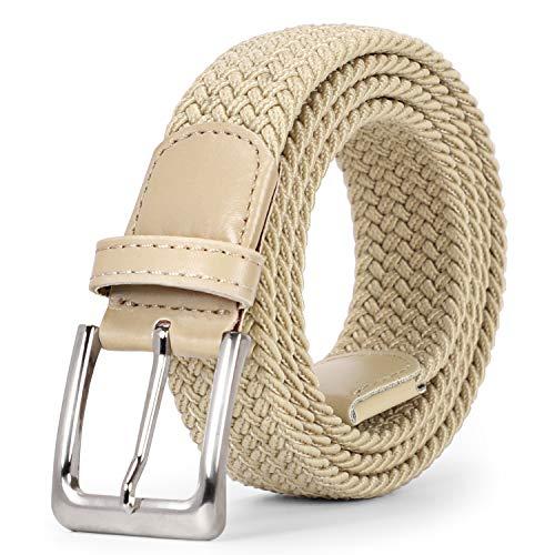 f7ebff62fe2aec SUOSDEY Unisex Stretchgürtel Elastischer Flechtgürtel Stoffgürtel  Geflochtener Taillen Gürtel für Damen und Herren