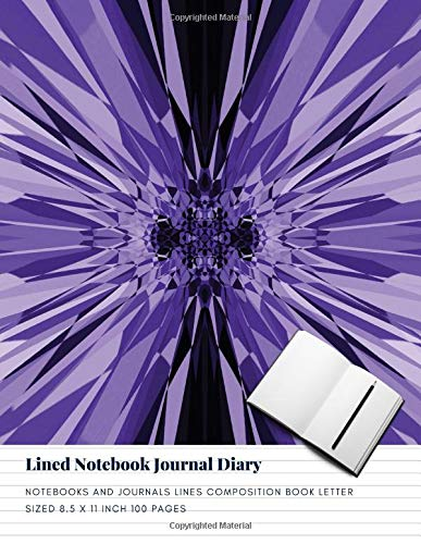 Lined Notebook Journal Diary: Notebooks And Journals Lines Composition Book Letter sized 8.5 x 11 Inch 100 Pages (Volume 44) -