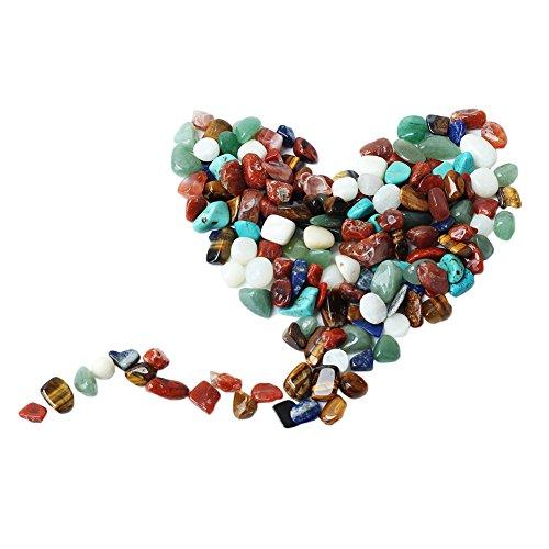 1 Sac 100 g coloré Mélange perles de forme irrégulière pierres polies Gem de roche Chips