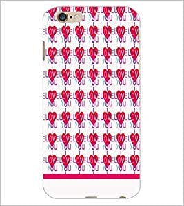 PrintDhaba I Love You Pattern D-1935 Back Case Cover for APPLE IPHONE 6S (Multi-Coloured)