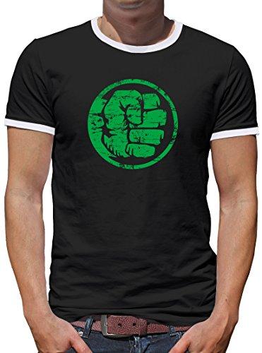 Touchlines Merchandise TLM Hulk Fist Bump Kontrast T-Shirt Herren Black
