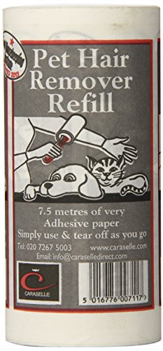 caraselle-pet-hair-remover-sticky-roller-refill-75m-adhesive-paper-cat-dog-hairs