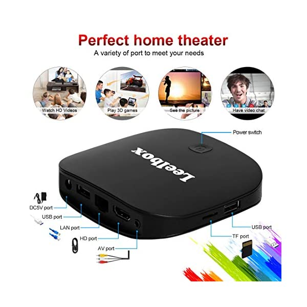 Leelbox-TV-Box-Android-812GB16GB-Q2-Pros-Botier-TV-Box-4K-2K-UHD-H265-HDMIUSB-2-2019-Dernire-Version